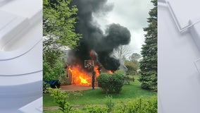 Brown Deer garage fire spreads to home, nobody hurt
