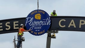 Plymouth installs world 'Cheese Capital' arch