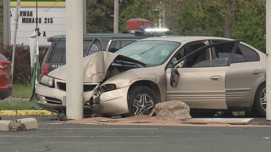 Crash at 3 Mile Road and Erie Street, Racine
