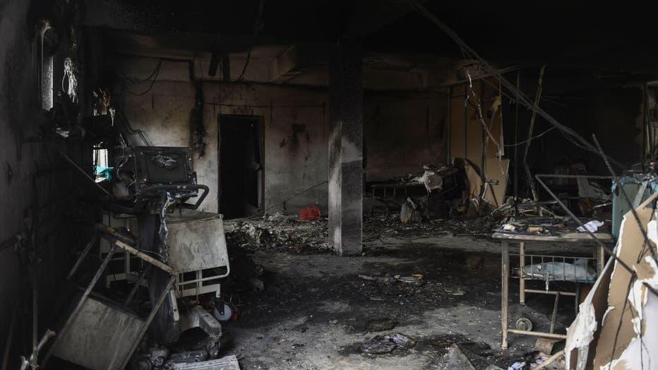INDIA-HEALTH-VIRUS-ACCIDENT-FIRE
