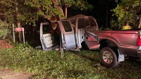 Truck hits tree in Whitewater, 4 injured