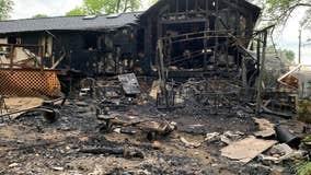 Deck fire destroys Palmyra home