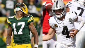 Raiders' Derek Carr 'will be recruiting very hard' for Davante Adams amid Aaron Rodgers-Packers drama