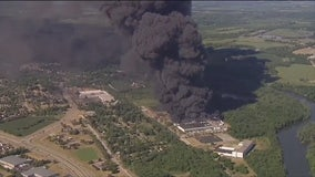 Illinois chemical plant fire: Residents wait for word to return home