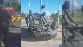 Mount Pleasant rollover crash, driver injured