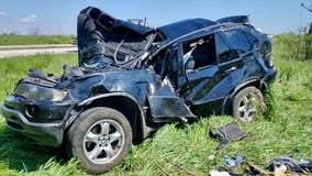 Rollover crash in Port Washington; Chicago woman, boy hospitalized