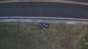 Burlington motorcycle crash; 1 injured, taken by Flight for Life