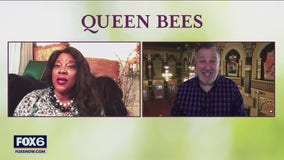 Gino talks with cast member of 'Queen Bees'