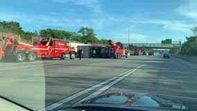 I-41 and Oklahoma: Overturned semi