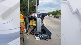 Mount Pleasant rollover crash, driver injured: police