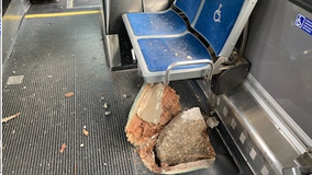 Loose concrete breaks through MCTS bus floor