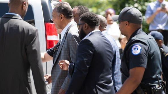 Rev. Jesse Jackson, Bishop William Barber among more than 20 arrested in DC protest