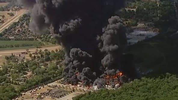 Massive chemical fire at Rockton factory forces evacuations