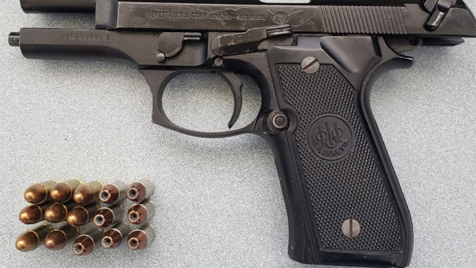 This handgun was detected by TSA officers in a passenger's carry-on bag at Milwaukee Mitchell International Airport on June. 11. (TSA photo)