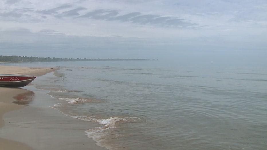 Lake Michigan shoreline in Racine