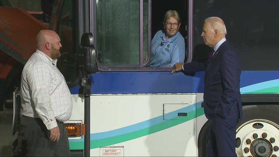 President Biden visits La Crosse transit center