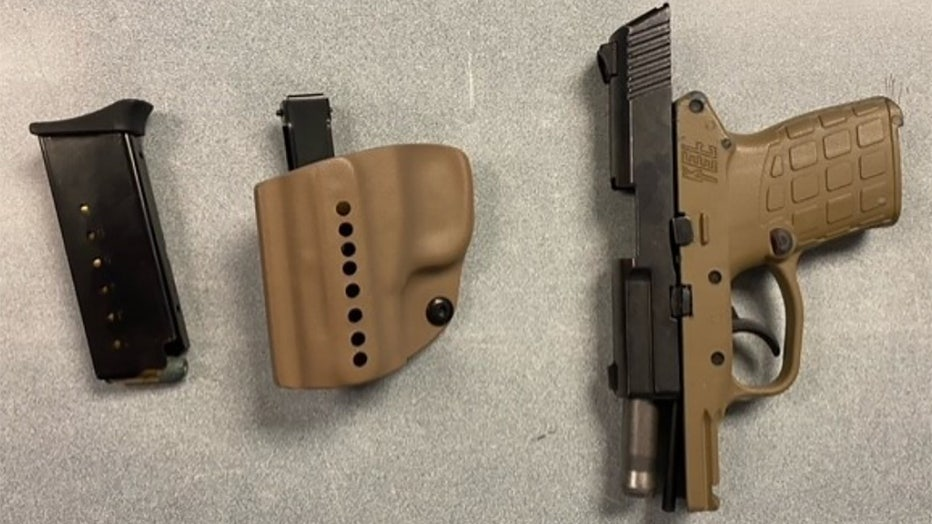 This handgun was detected by TSA officers in a passenger's carry-on bag at Milwaukee Mitchell International Airport on June. 14. (TSA photo)