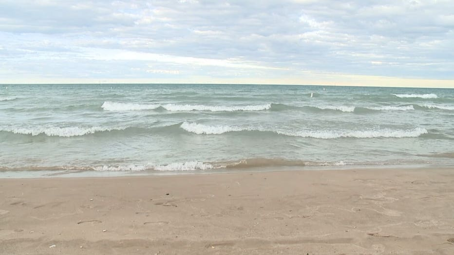 Water rescue at North Beach in Racine