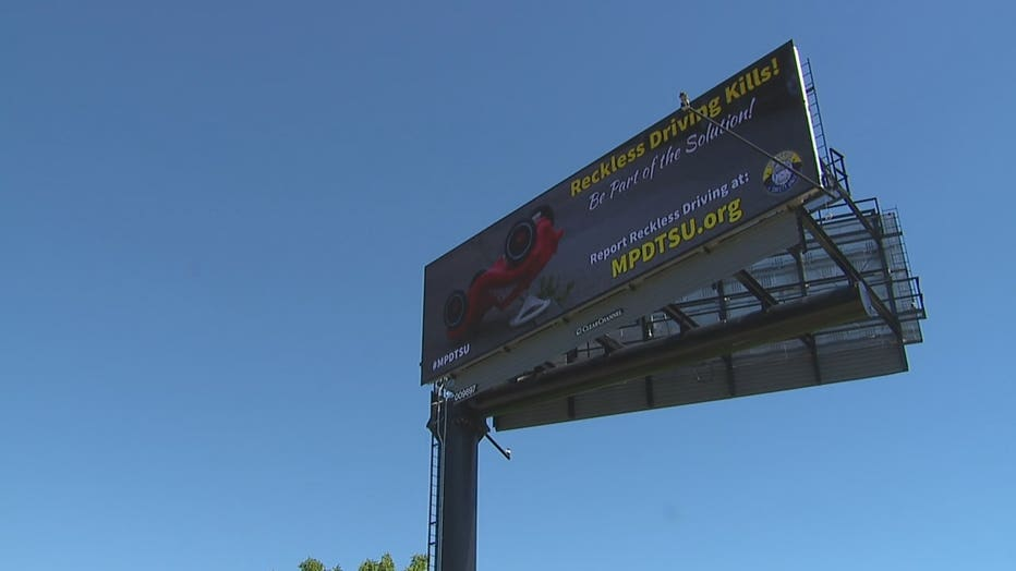 Reckless driving billboard campaign