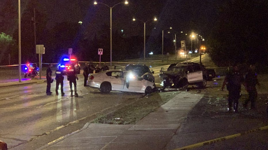Crash near 76th and Clinton