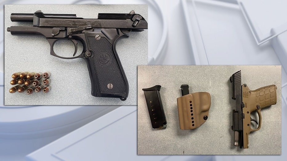 Guns confiscated by TSA at Milwaukee Mitchell International Airport