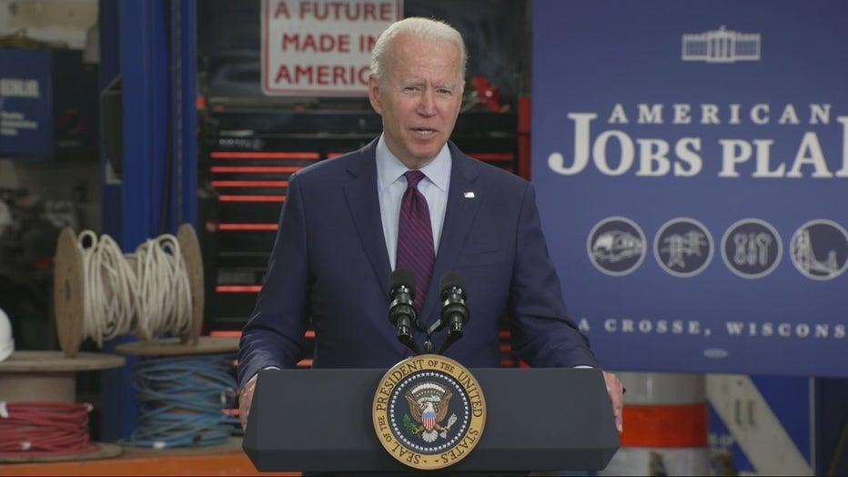 President Biden visits La Crosse, Wisconsin