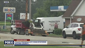 Active investigation at 2 gas stations in Racine County