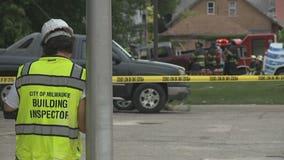 Milwaukee crash prompts house fire