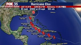 Hurricane Elsa weakens as storm continues across Caribbean; Florida remains in projected path
