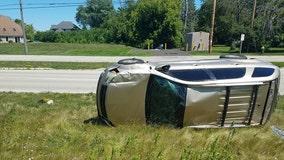 Mount Pleasant rollover crash: Child injured, 1 arrested