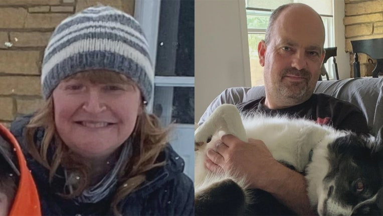 A family member reported Krista (left) and Bart (right) Halderson missing earlier this week after the couple didn't return home when they said they would (Chandler Halderson)