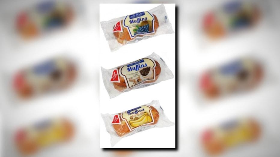 Recalled muffins layout