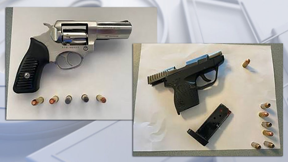 Firearms confiscated by TSA at Milwaukee Mitchell International Airport