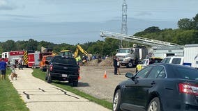 Fredonia DPW worker trench rescue, flown to hospital