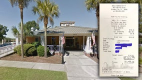 Diner leaves $10,000 tip for workers at Gainesville restaurant