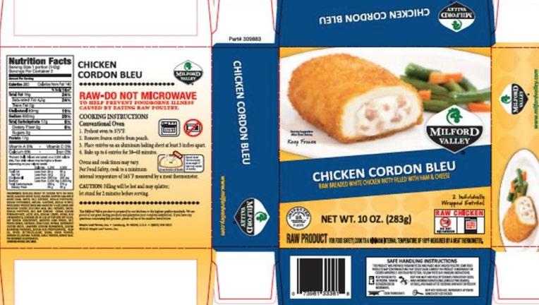 milford chicken recall usda