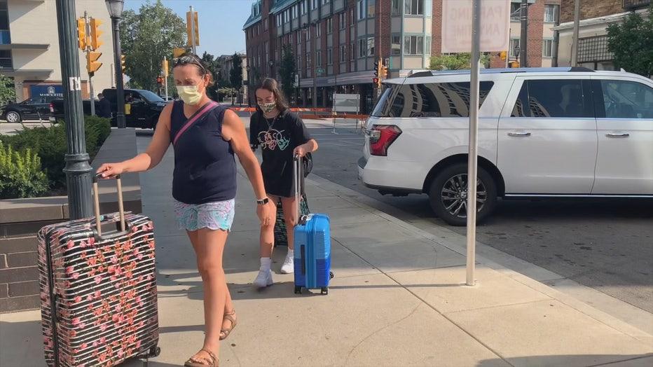 Marquette University move-in day