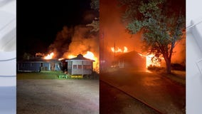 Village of Raymond house fire, structure a total loss
