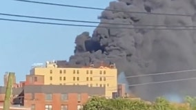 Fire engulfs roof of hospital in Queens