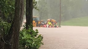10 students, driver rescued from school bus as flooding creates havoc in Frederick County