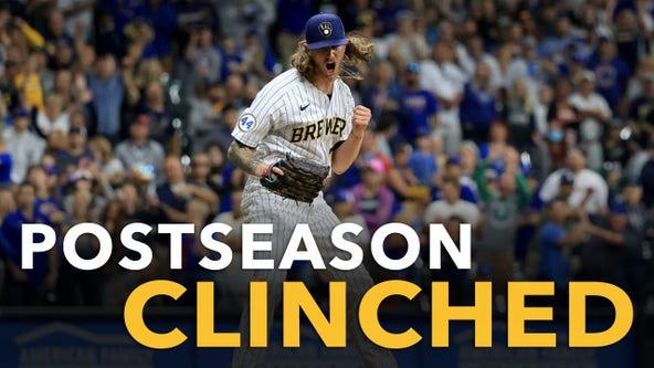 Brewers beat Cubs, clinch postseason berth