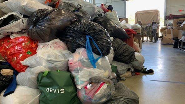 Team Rubicon sorts Afghan refugee donations in Sparta