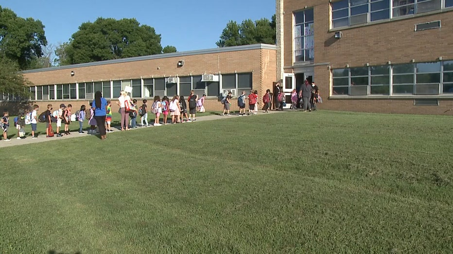 First day of school at Madison Elementary in Wauwatosa