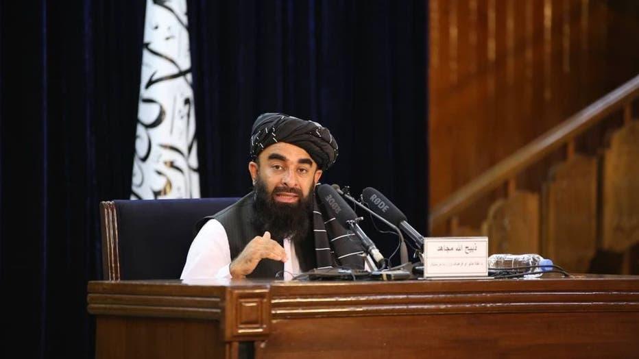 Taliban spokesperson Zabihullah Mujahid holds press conference