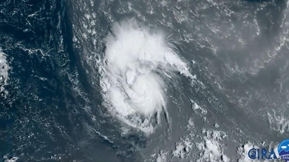 Hurricane Sam brewing
