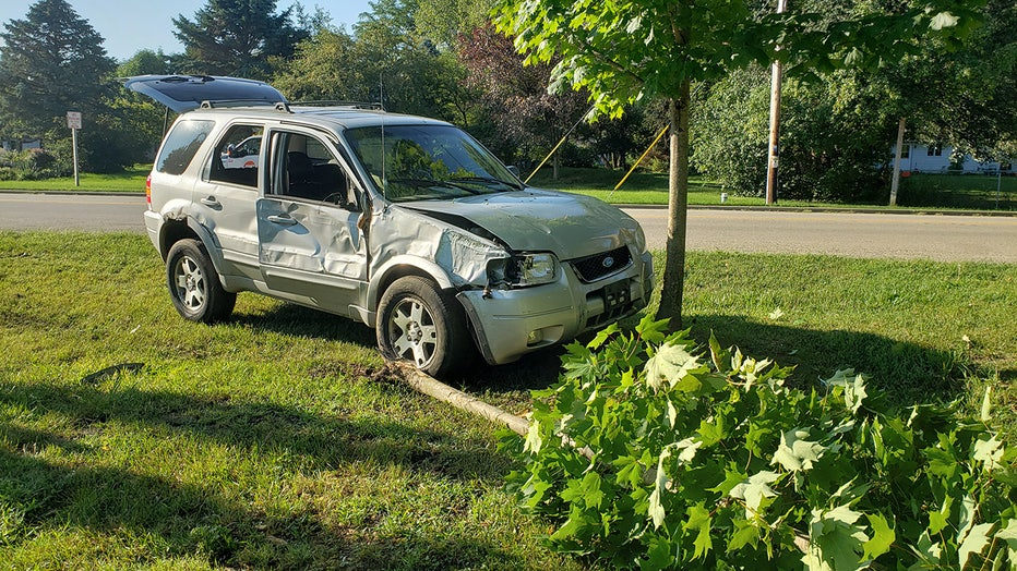 Crash near the intersection of W. Chestnut Street and Travelers Run in the Town of Burlington