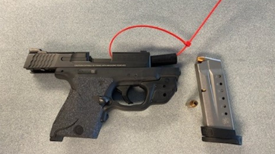 This handgun was detected by TSA officers in a passenger's carry-on bag at Milwaukee Mitchell International Airport (MKE) on Sept. 13. (TSA photo)