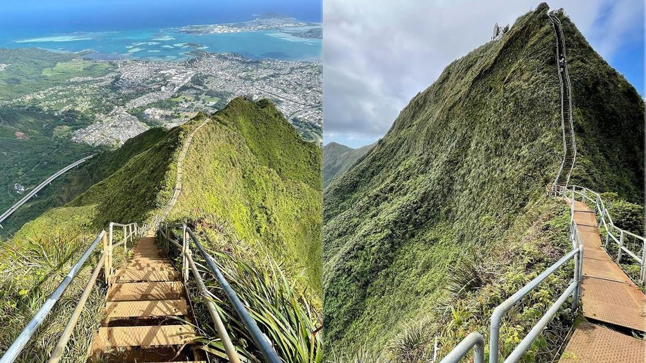 haiku stairs side by side