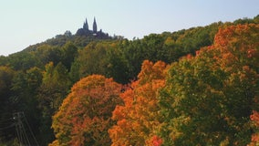 Autumn colors at Holy Hill just starting to pop, draw visitors