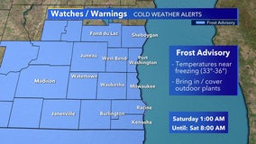 Frost advisory for SE Wisconsin in effect from 1 a.m.-8 a.m. Saturday